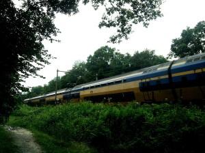 De spoorlijn Maastricht-Roermond loopt dwars door het gebied