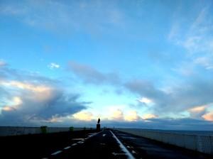 Onderweg op de Afsluitdijk
